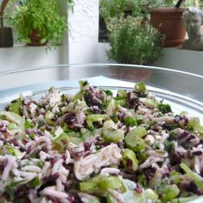 Salat mit Piemontreis