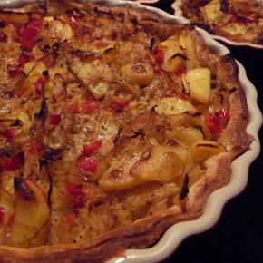 Kartoffel-Quiche mit Sauerkraut